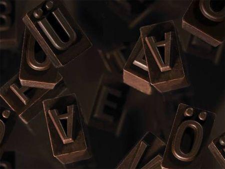 chocolate alphabets