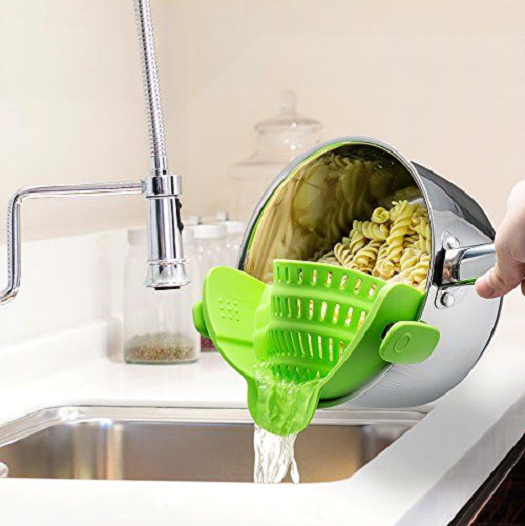 clipped strainer